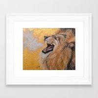 fierce Framed Art Prints featuring Fierce by NicoleFaye