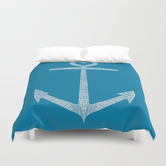 Love is the anchor Duvet Cover