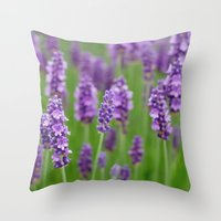 lavender Throw Pillows featuring lavender by GISMANA