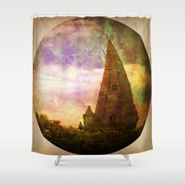 The Crooked Spire. Shower Curtain