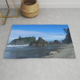 Morning At Ruby Beach Rug