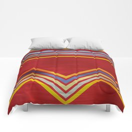 Stripes and Chevrons Ethic Pattern Comforters