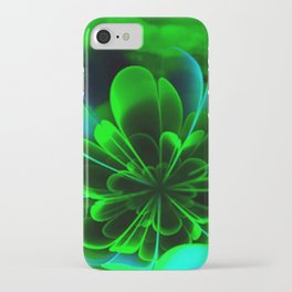 Abstract Green Flower iPhone Case