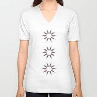 chakra V-neck T-shirts featuring Chakra by RaJess