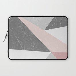 Grunge Geometric Retro Pattern Laptop Sleeve