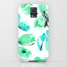 Blue Floral Slim Case Galaxy S5