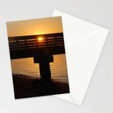Dock at sunset Stationery Cards