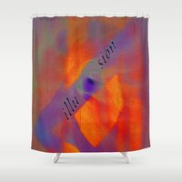 illusion Shower Curtains featuring illusion  by  Agostino Lo Coco