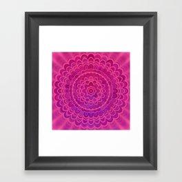 Love Mandala Framed Art Print