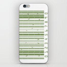 Bamboo Barcode iPhone Skin