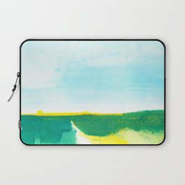 Distant forest abstract landscape Laptop Sleeve