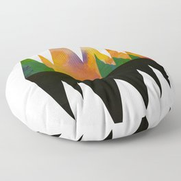 Abstract Mountains Floor Pillow