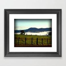 On a cold winter's morning in Tasmania - Australia Framed Art Print