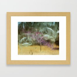 Laundry Line in Abstract Framed Art Print