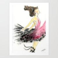 dance Art Prints featuring Dance by Natalie Woo artwork