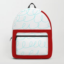 Red White Blue Waves Backpack