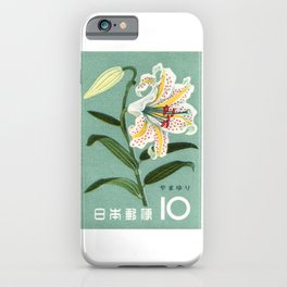 1961 JAPAN Lily Postage Stamp iPhone Case