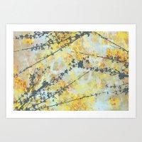 Abstract Twig Print Art Print