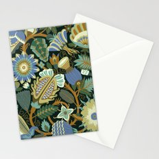 Flower Fantasy in blue Stationery Cards