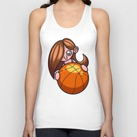 basketball Tank Tops featuring Basketball Player by Artistic Dyslexia