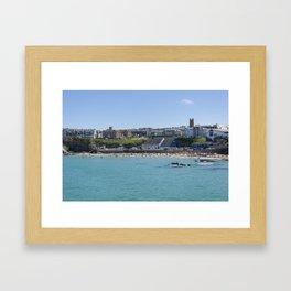 Newquay beach Framed Art Print