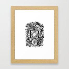 Bomb in the flowers Framed Art Print
