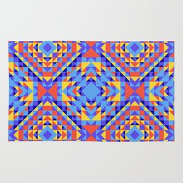 Ethnic geometric pattern with elements of traditional tribal folk style. Rug