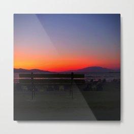 Seaside sunset Metal Print
