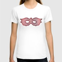 mask T-shirts featuring Mask by Bluishmuse