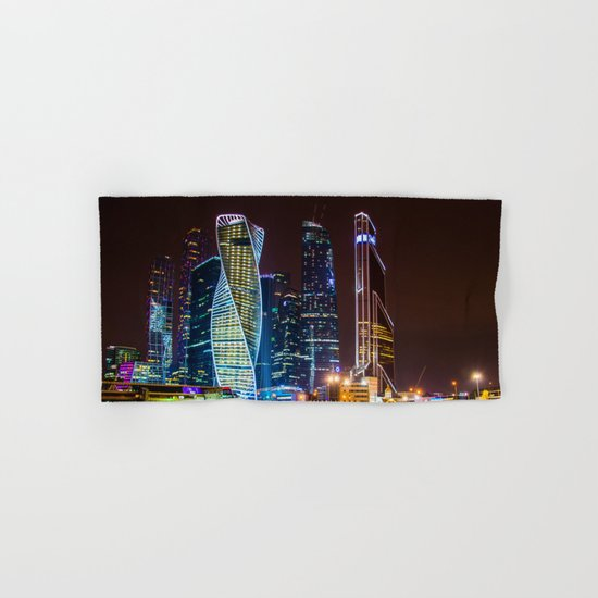 the bright lights of the city Hand & Bath Towel