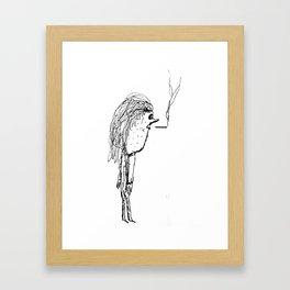 Milktoast Framed Art Print