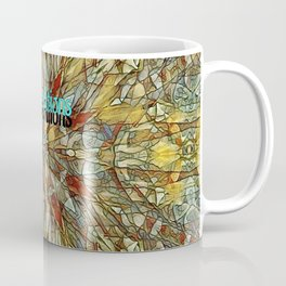 Red Yellow Stained Glass Multicolor Pattern  Coffee Mug