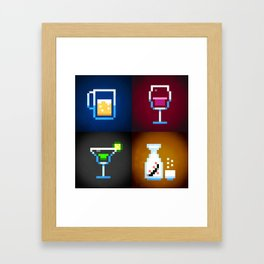 Pixel Drinks Framed Art Print