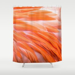 You Are What You Eat Flamingo Feathers Shower Curtain