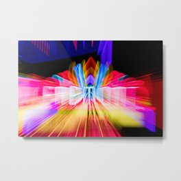 Lights Camera Action Fremont Theater zoom burst photograph Metal Print
