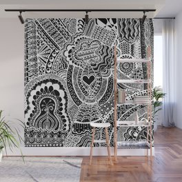 Love Doodle Wall Mural