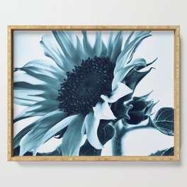 Pastel Blue Sunflower Serving Tray