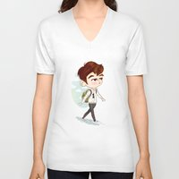 shinee V-neck T-shirts featuring SHINee model walking ho  by sophillustration