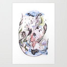 Jardin des délices Art Print