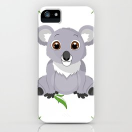 Cute Little Koala Bear iPhone Case