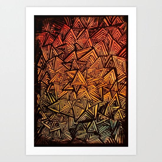 Triangles are for fun. Art Print