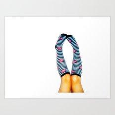 Cozy Toes Art Print