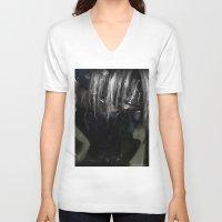 kakashi V-neck T-shirts featuring Hatake Kakashi by Raquel Rojas Gómez
