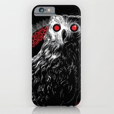 Midnight Owl - Red iPhone 6s Slim Case