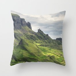 View of the Quiraing Throw Pillow