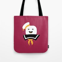 ghostbusters Tote Bags featuring Ghostbusters by FilmsQuiz