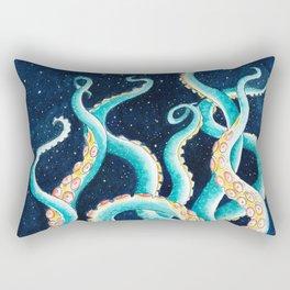 Octopus Tentacles Galaxy Ocean Stars Watercolor Rectangular Pillow