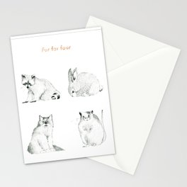 Fur For Four Stationery Cards