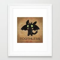 toothless Framed Art Prints featuring Toothless  by Walko