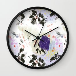 Purple abstract nature pattern Wall Clock